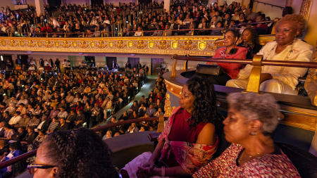 Audience at Yolanda Adams Concert, historic Lyric Theater, Birmingham, AL
